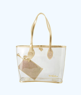 Clear Tote, Clear, large 0