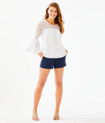 Amenna Flounce Sleeve Top, Resort White, large