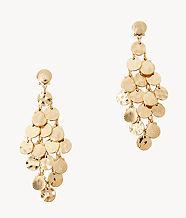 Maraca Earrings, Gold Metallic, large