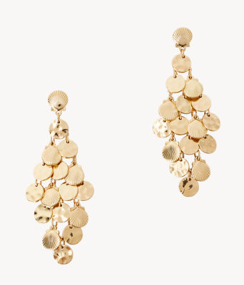 Maraca Earrings, Gold Metallic, large 0