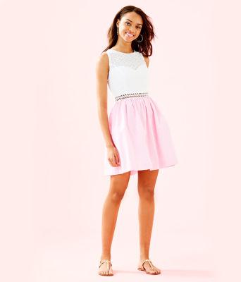 Alivia Dress, Havana Pink Yarn Dye Seersucker, large 3
