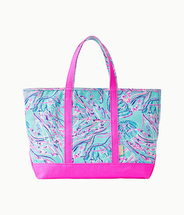 Mercato Tote, Bayside Blue Under The Moon, large