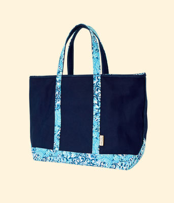 Mercato Tote, Deep Sea Navy, large