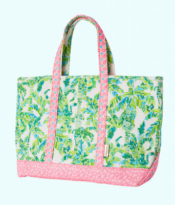 Mercato Tote, Fresh Citrus Keep Palm, large