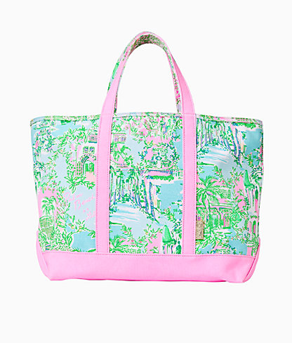 Mercato Tote, Multi Lilly Loves Palm Beach, large 0