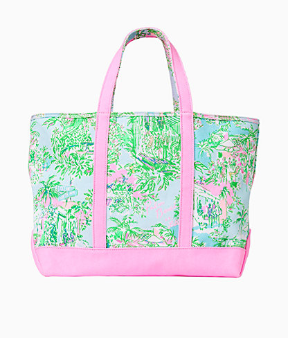 Mercato Tote, Multi Lilly Loves Palm Beach, large 2