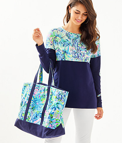 Mercato Tote, Multi Lillys House, large 2