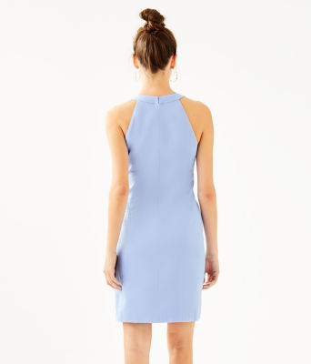 Jena Stretch Shift Dress, Blue Peri Tint, large 1
