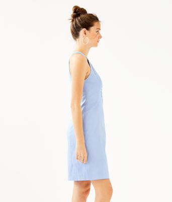 Jena Stretch Shift Dress, Blue Peri Tint, large 2