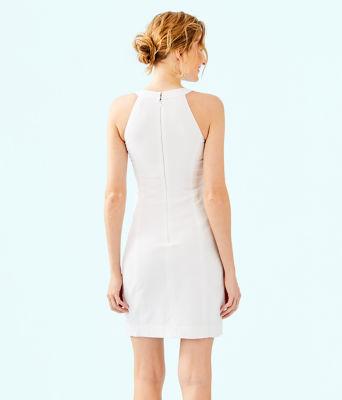 Jena Stretch Shift Dress, Resort White, large 1
