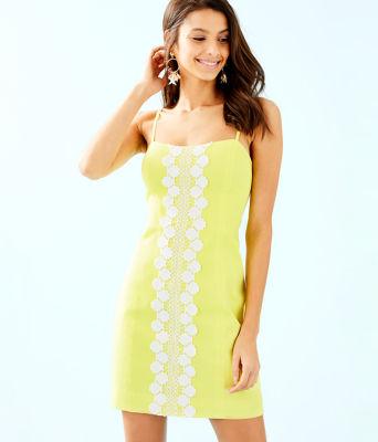 Shelli Stretch Dress, Watch Hill Yellow, large 0