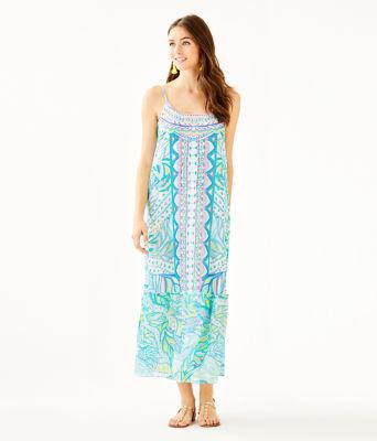 Winni Midi Dress, Multi Maraca My World Engineered Dress, large 0
