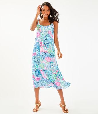 Winni Midi Dress, Multi Sink Or Swim, large 0