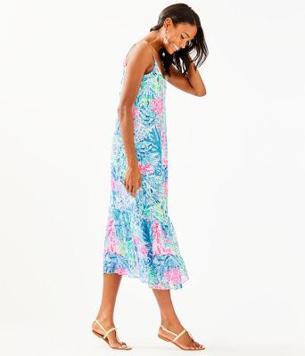 Winni Midi Dress, Multi Sink Or Swim, large 2