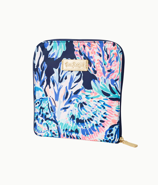 Getaway Packable Tote, High Tide Navy Party In Paradise, large