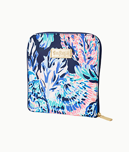 Getaway Packable Tote, High Tide Navy Party In Paradise, large 2