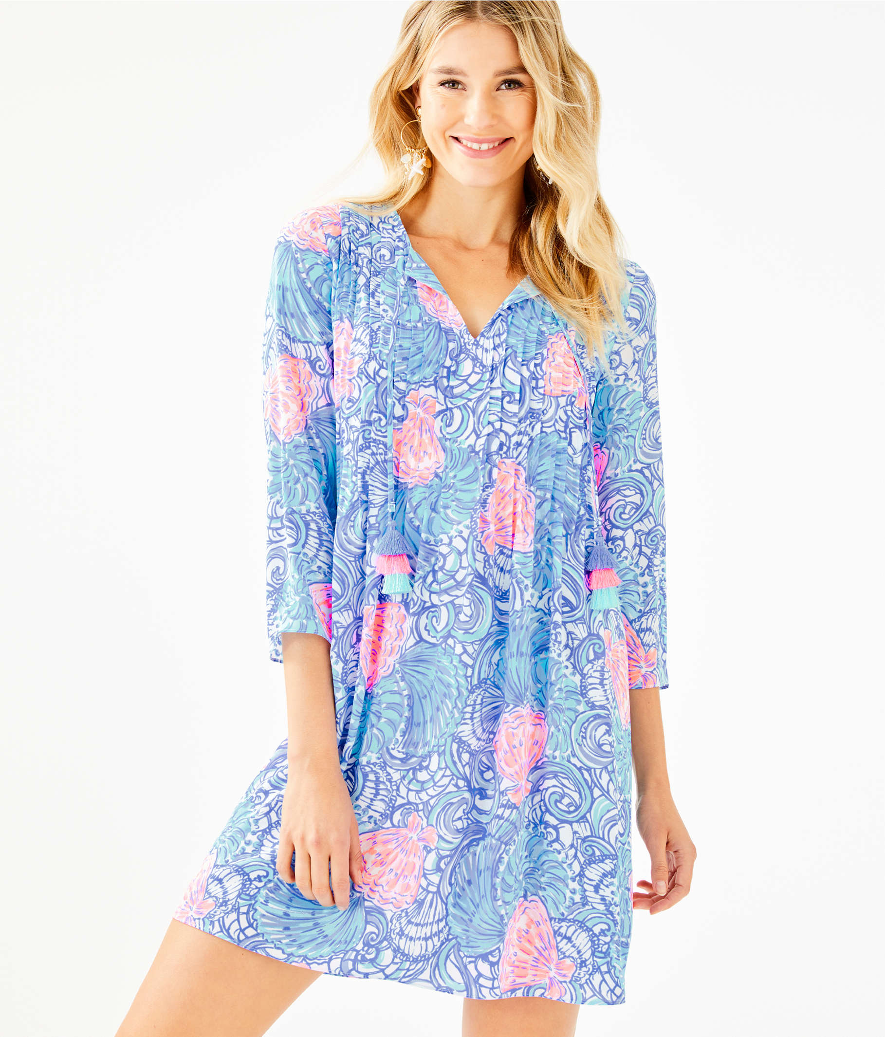 bc1c92c0364 ... Marilina Tunic Dress, Blue Haven Raising Shell, large ...