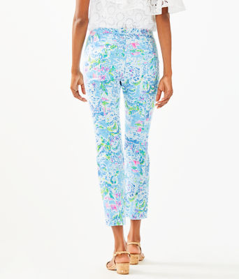 """27"""" Kelly Skinny Stretch Crop Pant, Multi What A Lovely Place, large"""