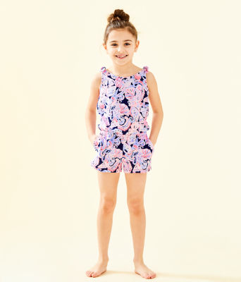 Girls Cady Romper, High Tide Navy Its For Shore, large 0