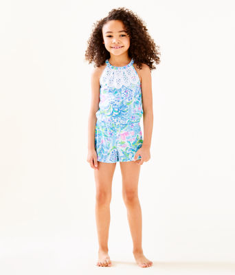 Girls Mini Pearl Romper, Multi What A Lovely Place, large