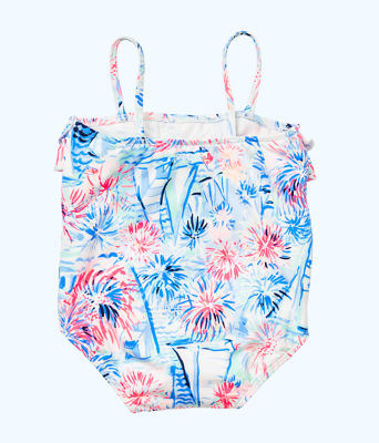 UPF 50+ Lydia Infant Swimsuit, Crew Blue Tint Sea To Shining Sea, large