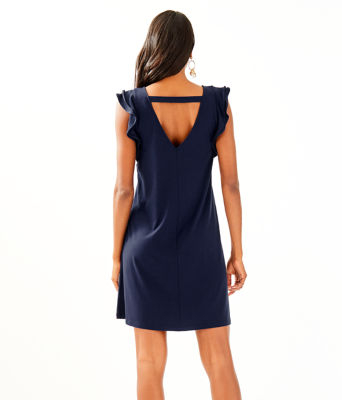 Dani Dress, True Navy, large 1