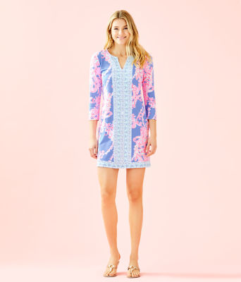 UPF 50+ ChillyLilly Nadine Dress, Blue Peri Go With The Flow Engineered Chilly Lilly, large