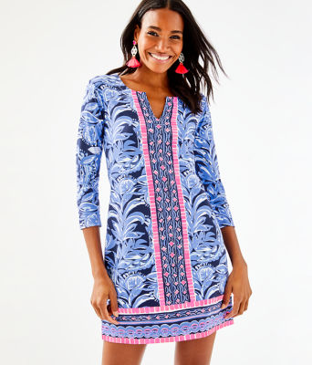 UPF 50+ ChillyLilly Nadine Dress, High Tide Navy Youre The Zest Engineered Chilly Lilly, large