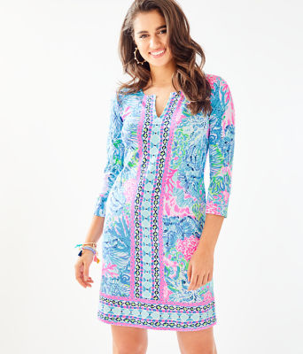 UPF 50+ ChillyLilly Nadine Dress, Multi Sink Or Swim Engineered Chilly Lilly, large