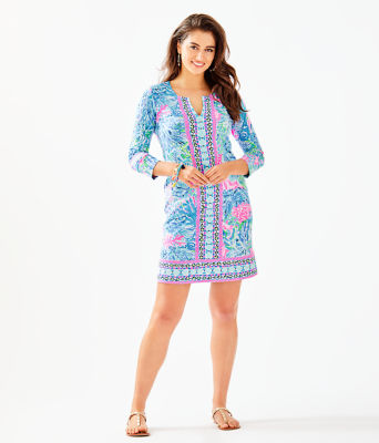 UPF 50+ ChillyLilly Nadine Dress, Multi Sink Or Swim Engineered Chilly Lilly, large 3