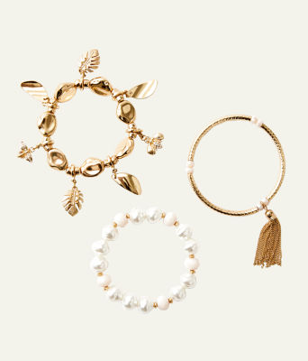 Oceana Bracelet Set, Gold Metallic, large