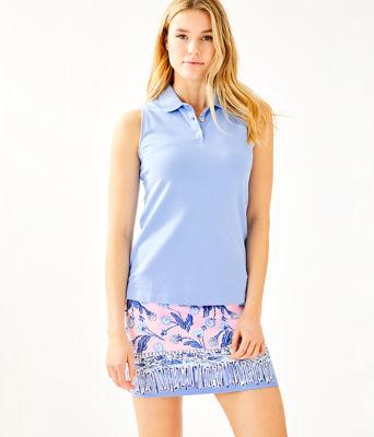 UPF 50+ Monica Golf Skort, Pink Tropics Tint Par Tee Time Engineered Skort, large 0