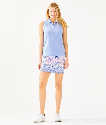 UPF 50+ Monica Golf Skort, Pink Tropics Tint Par Tee Time Engineered Skort, large 3