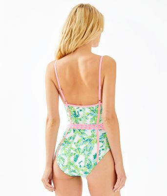 Palma One-Piece Swimsuit, Fresh Citrus Keep Palm, large