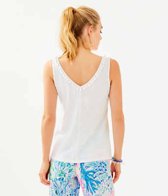 Gigi Top, Resort White, large 1