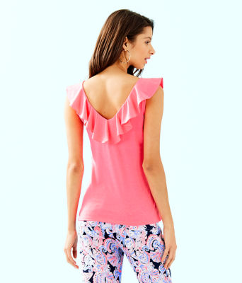 Alessa Top, Crab Claw Coral, large
