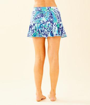 """UPF 50+ Luxletic 13"""" Meryl Nylon Taye Skort, Turquoise Oasis Wave After Wave, large"""