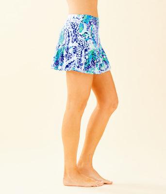 """UPF 50+ Luxletic 13"""" Meryl Nylon Taye Skort, Turquoise Oasis Wave After Wave, large 2"""
