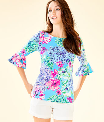 Fontaine Bell Sleeve Top, Multi Special Delivery, large 0