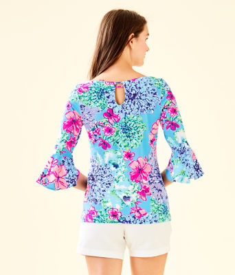 Fontaine Bell Sleeve Top, Multi Special Delivery, large 1