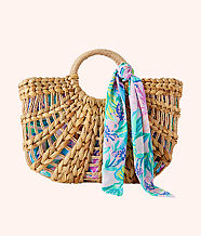 Marrakech Straw Tote, Natural, large