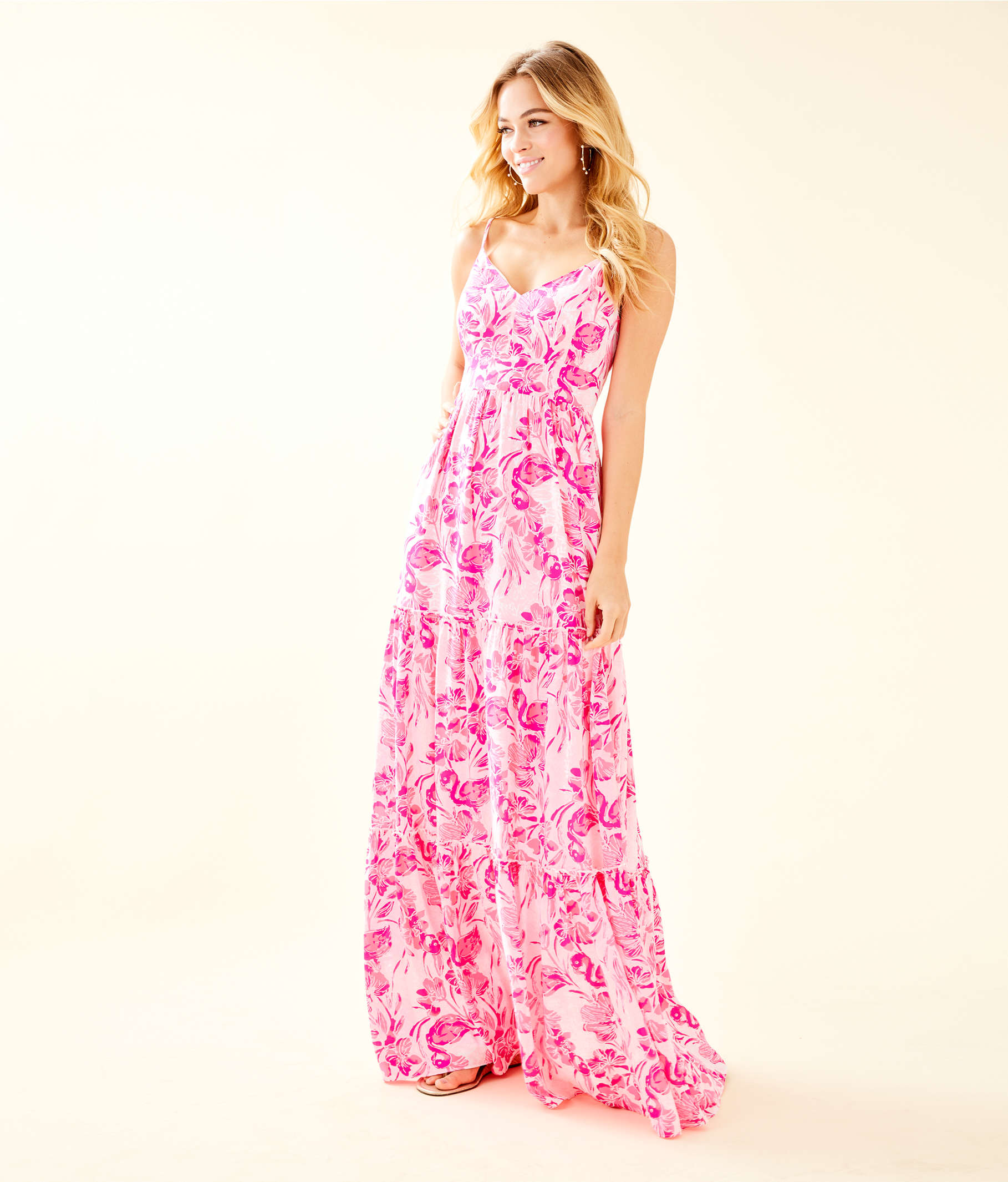 5ef9b99d42df07 ... Melody Maxi Dress, Coral Reef Tint Flamingle, large ...