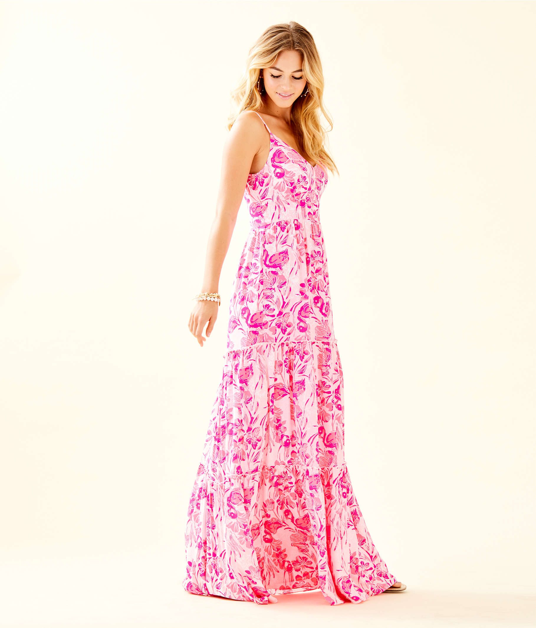 7562565e285c5a Melody Maxi Dress, Coral Reef Tint Flamingle, large Zoom