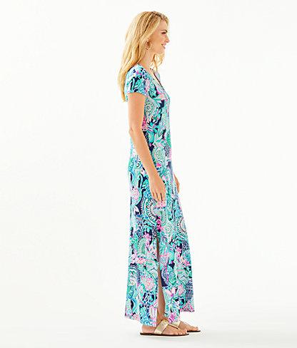 Wynne Maxi Dress, Multi Lookin Sharp, large 2
