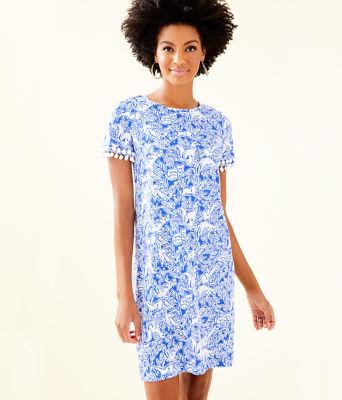 Lissie Dress, Coastal Blue Fancy Feet, large 0