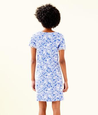 Lissie Dress, Coastal Blue Fancy Feet, large 1