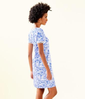 Lissie Dress, Coastal Blue Fancy Feet, large 2