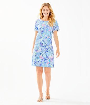 Lissie Dress, Coastal Blue Lion Around, large