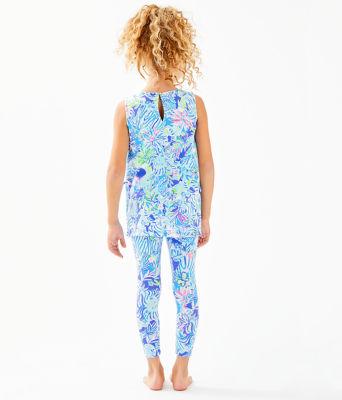 Girls Mini Donna Legging Set, Coastal Blue Lion Around, large