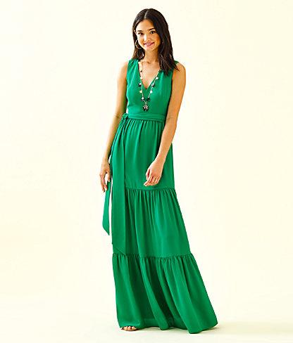 Maurine Maxi Dress, Emerald Isle, large 0